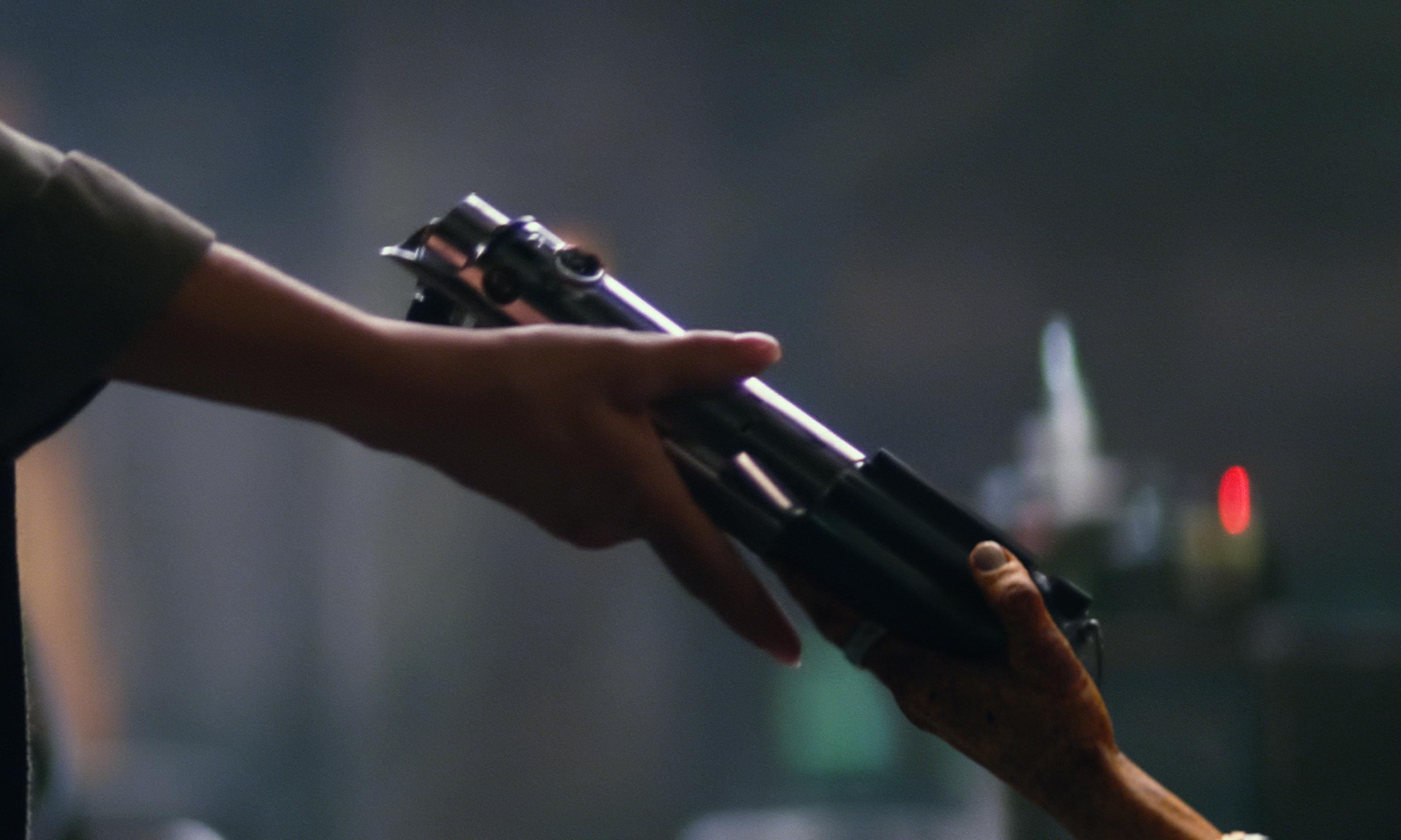 spada laser Luke Episodio 7