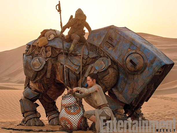 Rey che prende possesso di BB-8? E chi sono quell'alieno e la stranissima creatura che cavalca?