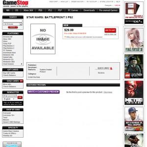 BF3 sul sito Gamestop.ca