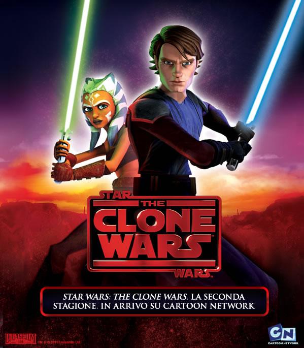 La locandina della stagione 2 di The Clone Wars, dal 16 aprile su Cartoon Network.